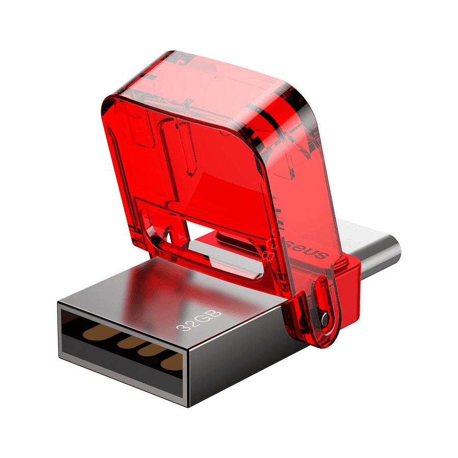 Внешний вид Baseus Red-Hat Type-C USB Flash Disk Tarnish Body